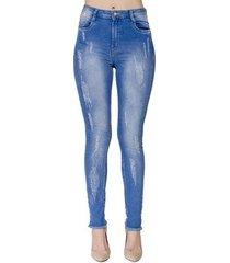 calça jeans skinny desfiada handbbok