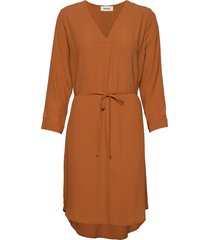 baloo dress jurk knielengte oranje modström