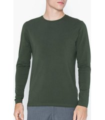bread & boxers long sleeve crew-neck tröjor army green
