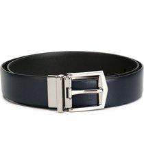 burberry reversible london leather belt - blue