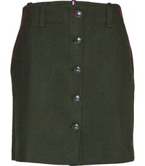 luitgard mini skirt korte rok groen tommy hilfiger