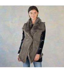 simone shearling vest