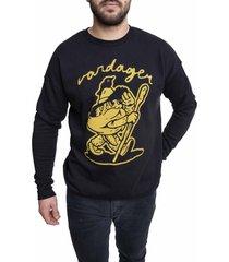 men's vardagen keep going graphic sweatshirt, size medium - black