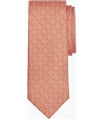 corbata tossed bits print naranja brooks brothers