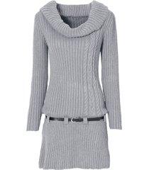abito in maglia con cintura (grigio) - bodyflirt