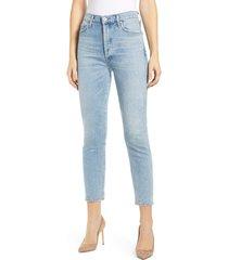 women's citizens of humanity olivia high waist crop slim jeans