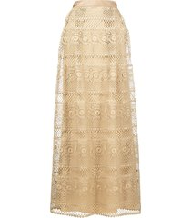 alberta ferretti long crochet skirt - neutrals