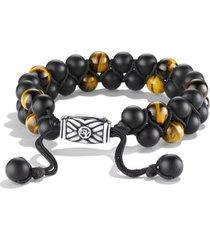 david yurman spiritual beads two-row stone bracelet, size 8.5 in black onyx at nordstrom