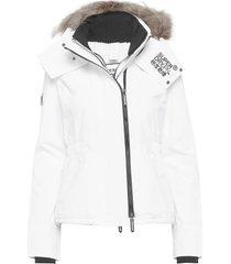 hooded fur winter windattacker fodrad jacka vit superdry