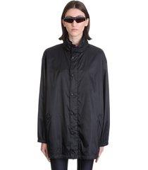 balenciaga casual jacket in black polyester