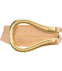 bottega veneta leather waist belt - neutrals