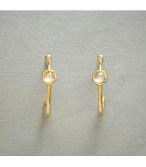 dots of blue hoop earrings