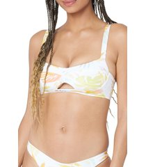 l space floral bikini top, size large in summer tropics at nordstrom