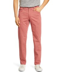 brax cooper five pocket stretch cotton pants, size 31 x 32 in cherry at nordstrom