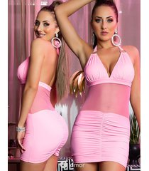 roze club mini jurkje