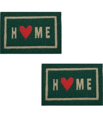 2 capachos p/ porta decorativo 60x40cm home16 - verde - feminino - dafiti