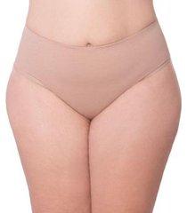 calcinha econfort cintura alta com tecido duplo de algodão coleção gloss feminina - feminino
