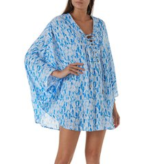 melissa odabash lottie cover-up tunic in waterfall at nordstrom