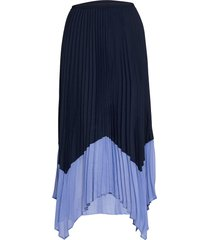ali pleated midi skirt knälång kjol blå french connection