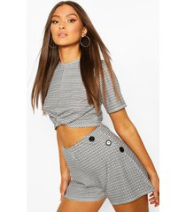 mini flannel knot front top, mono
