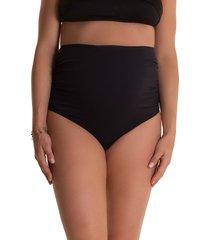 women's pez d'or lucia high waist maternity bikini bottoms, size large - black
