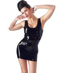 latex mini jurk - zwart