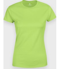 damska koszulka (bez nadruku, gładka) - jasnozielona