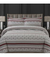 snowmitten cotton flannel printed oversized king duvet set bedding