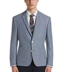 james tattersall kings cross heather blue extreme slim fit sport coat