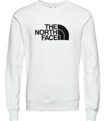 m drew peak crew sweat-shirt trui wit the north face