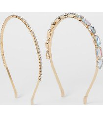 river island womens gold colour embellished headband 2 pack