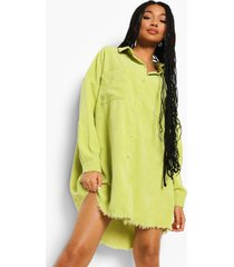 oversized corduroy blouse, lime
