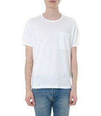 valentino rockstud untitled white cotton t-shirt