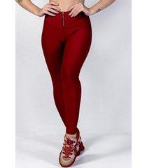 calã§a legging yasmin lingerie leg22 vermelho - vermelho - feminino - poliamida - dafiti