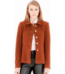 casaco belfast 3/4 laranja - kanui