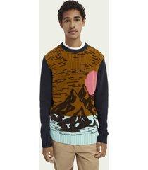 scotch & soda cotton-blend artwork sweater