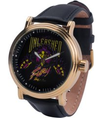 disney villains scar men's gold alloy vintage watch 44mm