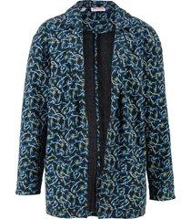 giacca lunga in felpa morbida fantasia (nero) - john baner jeanswear