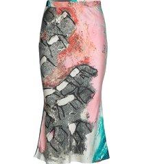 reidar midi skirt knälång kjol multi/mönstrad hálo