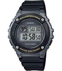 reloj casio w_216h_1bv negro resina hombre