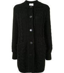 alice mccall constance lips embroidered cardigan - black