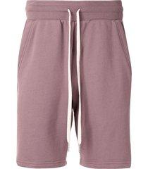john elliott crimson drawstring track shorts - purple