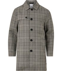 rock onsarcher check car coat otw