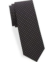 basket-weave silk tie