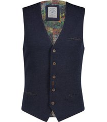 gilet structure donkerblauw