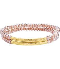 2-piece bar & bead stretch bracelet set