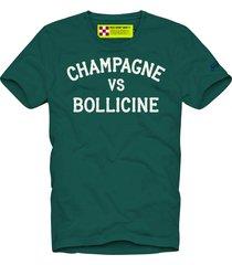 t-shirt man champagne & bollicine print