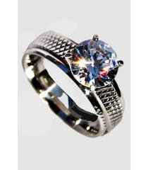 anillo acero unión civil plateado viva felicia