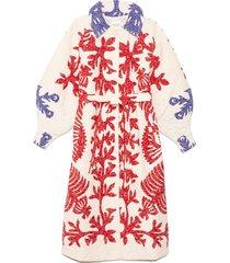 henrietta print quilted coat in multi