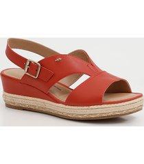 sandália feminina open boot anabela dakota